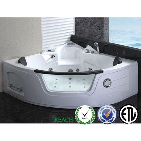 Bagno Italia Vasca idromassaggio da bagno 138x138 cm versione full optional 21 getti cromoterapia ozonoterapia