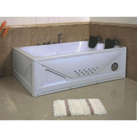 Bagno Italia Vasca idromassaggio per 2 con cromoterapia. Dimensioni 170x120 cm. Airpool + Whirlpool.