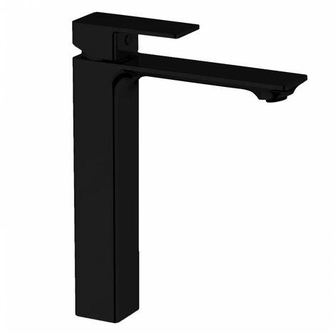 BAGNODESIGN Zephyr mono smooth bodied tall basin mixer Matt Black