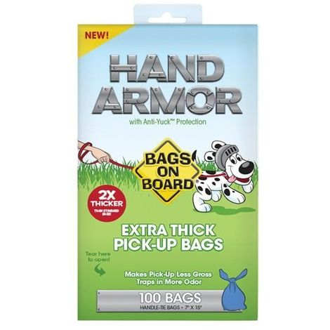 Bags On Board Hand Armor Extra Thick Dog Waste Bags (100 Bags) (May Vary)