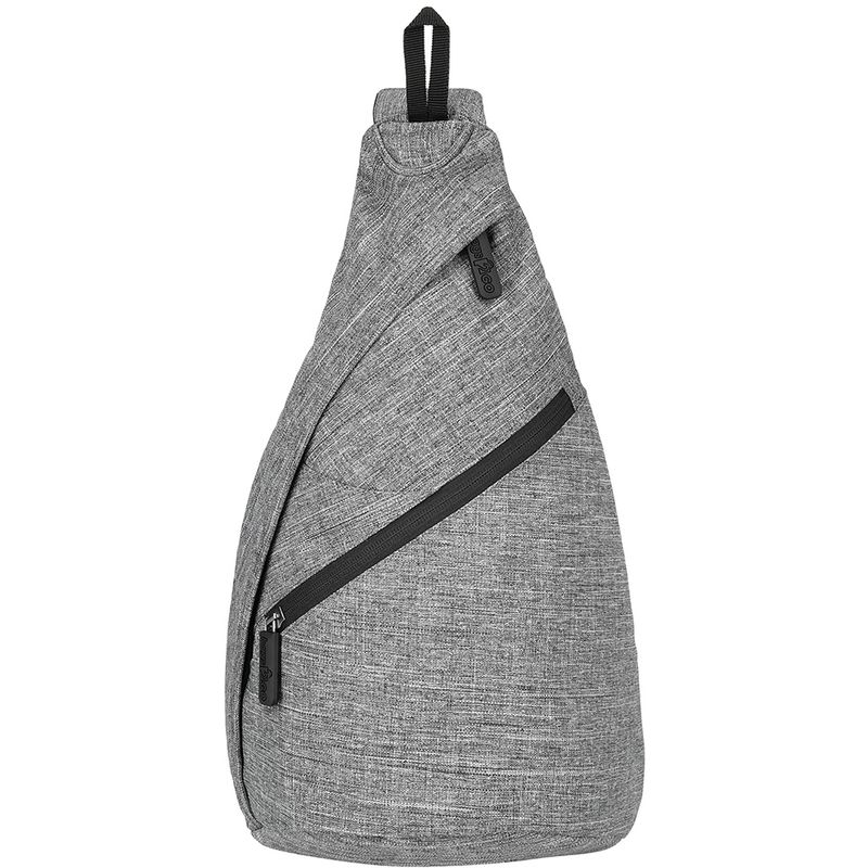Image of Broadway Triangle Backpack (One Size) (Grey Melange) - Bags2go