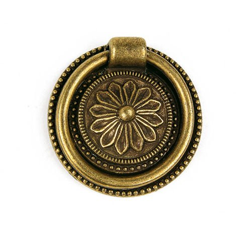 Bague en zamak avec finition en cuir, dimensions: 46x46x10mm, Ø: 46mm - talla