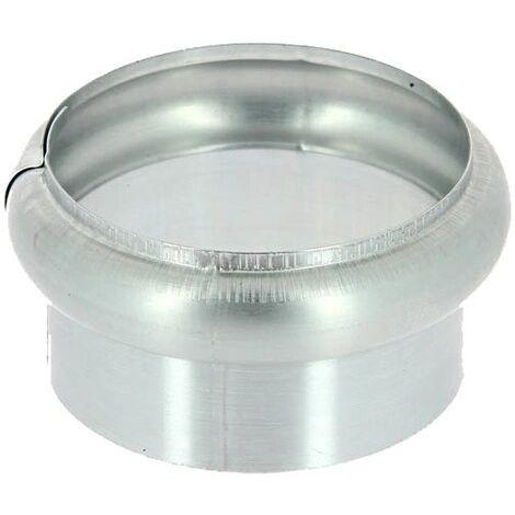 Bague simple extensible zinc naturel diamètre 80 mm