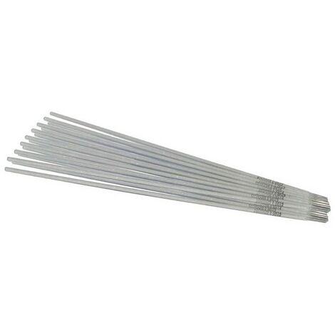 Baguettes inox 2.5 x 300mm-Electrode soudure à l'arc inox-Blister de 10 baguettes enrobées-soudage qualité 308 LSI-soudure mma
