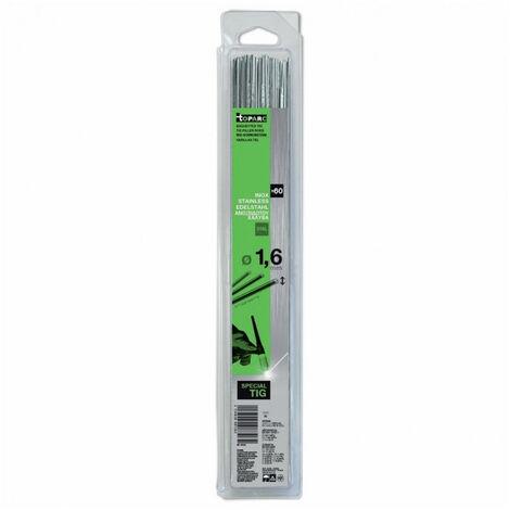 Baguettes inox 316L diam1,6 x 330mm (x60)