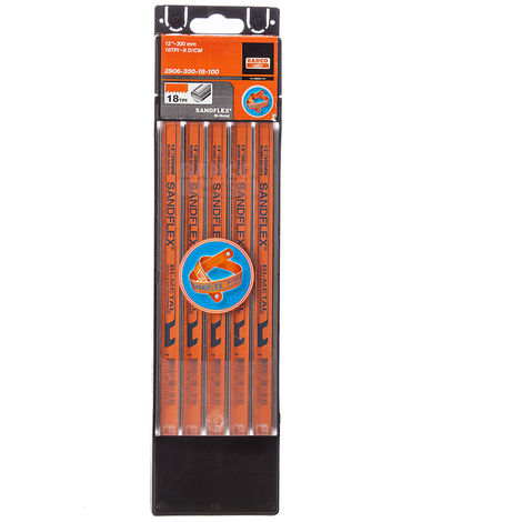Bahco BAH39061218 3906 Sandflex Bi-Metal Hacksaw Blades 12in x 18tpi Pack of 100