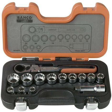 Bahco Coffret clé + douilles 14 pièces S140T