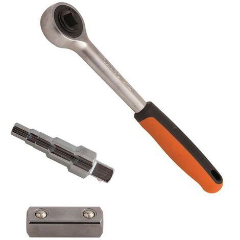 Bahco Radiator Valve Service Muli-Use Ratchet 3/8 7/16 1/2 3/4 1in 8195-SET