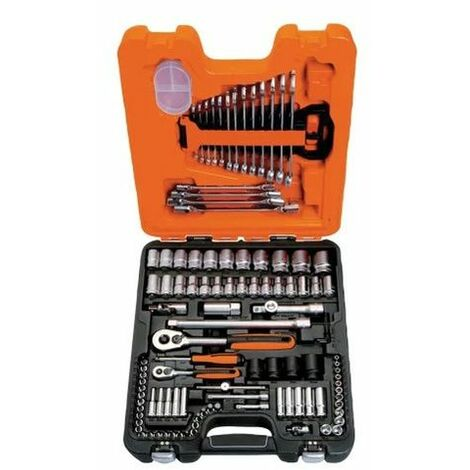 Bahco S108 Socket & Combination Spanner Set of 108 Metric 1/4in & 1/2in Drive