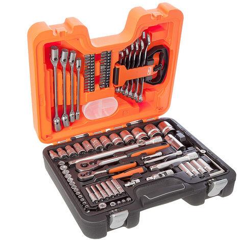 Bahco S910 - Jeu de douilles longues et 6 pans 1/4'' et 1/2'' métrique et jeu de clés mixtes (91pcs)