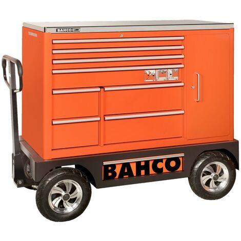 """Bahco Servante spéciale 53 avec 8 tiroirs et armoire latérale, 1 505 mm x 500 mm x 1 218 mm - 1475KXXL8CWTSS"""""""