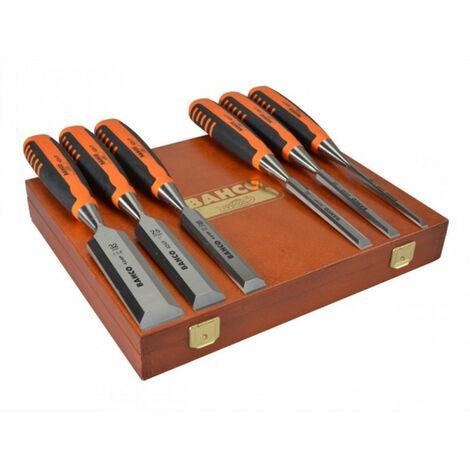 BAHCO Set de 8 ciseaux a bois avec coffret en bois 424P-S8-EUR