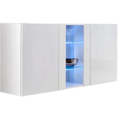 Bahut modèle Nora A1 (120x70cm) couleur blanc