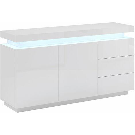 Bahut modèle Osim - Tout le meuble PVC haut brillant