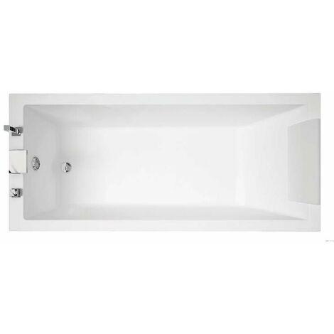 Baignoire acrylique Calos 2.0 - Rectangulaire - 1700 x 750mm - sur pieds - A encastrer - Blanc brillant