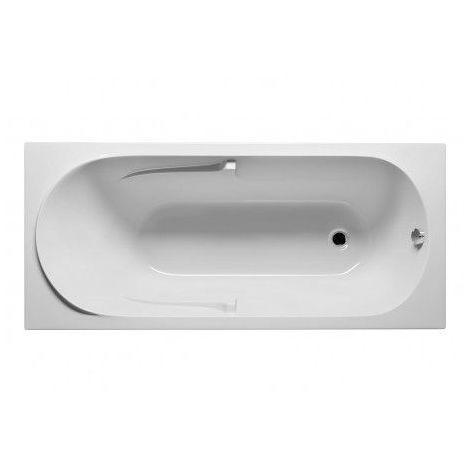 Baignoire acrylique RIHO FUTURE 180x80 cm - Avec appui-tête - Gris