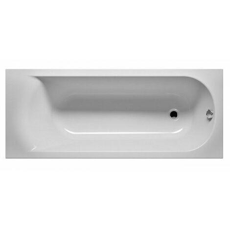 Baignoire acrylique RIHO MIAMI 160x70 cm - Avec appui-tête - Gris - Avec appui-tête - Gris