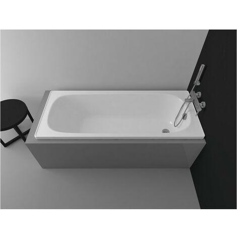 Baignoire ALVERANA en acier émaillé 120/130/140/150/160/170x70 cm - Dimensions: 160cm - Fond anti-dérapant: Avec - Noir