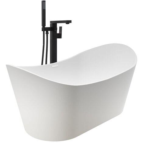 Baignoire autoportante et robinet 204 L 90 cm Noir