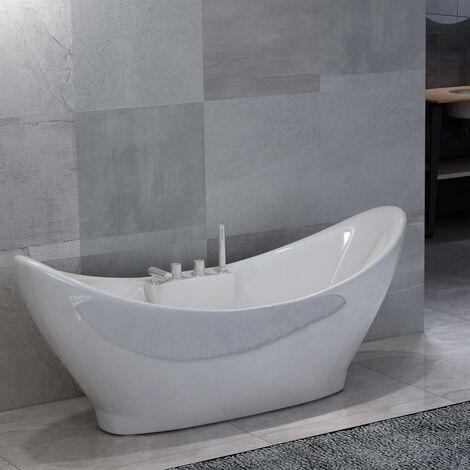 Baignoire avec robinet Blanc Acrylique 183 L