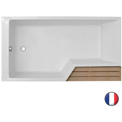 Baignoire bain-douche 160 x 90 gauche NÉO Jacob Delafon