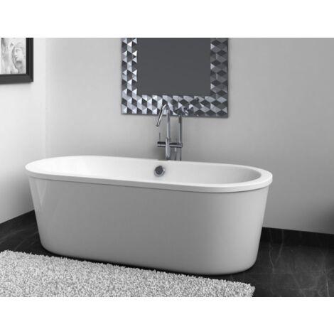 """main image of """"Baignoire balnéo design ovale LOFT blanche"""""""