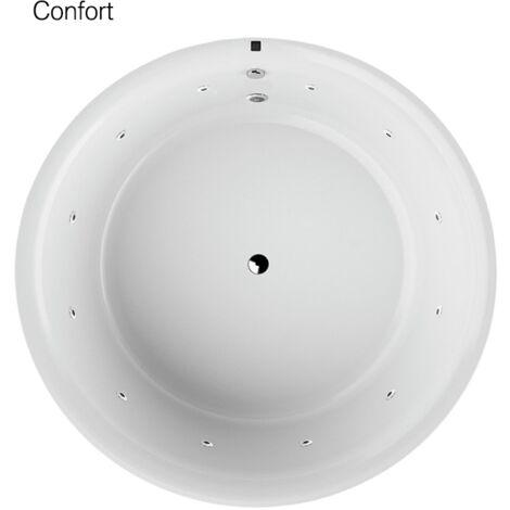 Baignoire balnéo design ronde COPLA blanche