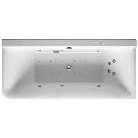 Baignoire balnéo Duravit P3 Comforts 1800 x 800 mm, angle droit, habillage acrylique sans joint, cadre, deux inclinaisons arrière, kit d'écoulement et de trop-plein, Combi-System P - 760380000CP1000