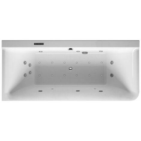 Baignoire balnéo Duravit P3 Comforts 1800 x 800 mm, angle gauche, habillage acrylique sans joint, cadre, deux inclinaisons arrière, kit d'écoulement et de trop-plein, Combi-System L - 760379000CL1000