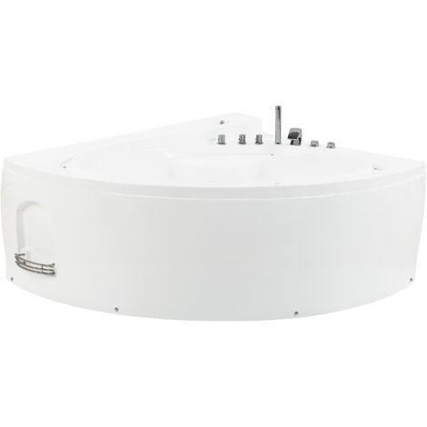 Baignoire balnéo ovale blanche avec LED PELICAN