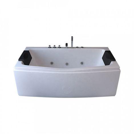 Baignoire balneo rectangulaire 170x75 hydromassante blanche - blanche