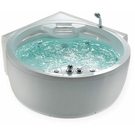 Baignoire balnéo ronde pour 2 personnes