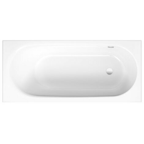 Baignoire Bette Comodo, 170 x 80 cm, 1643-, débordement latéral à l'arrière, Coloris: Blanc avec BetteGlasur Plus - 1643-000Plus