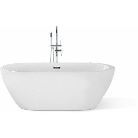 Baignoire centrale bain à remous en acrylique blanc 170 cm