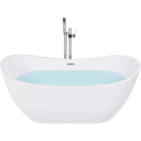 Baignoire centrale de forme ovale 240 litres blanche