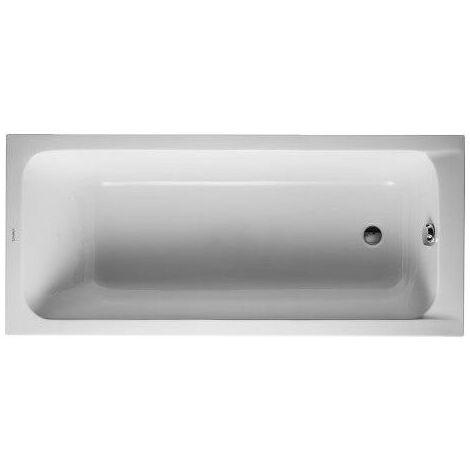 Baignoire Duravit D-code 1600 x 700 mm - avec pieds - Acrylique Blanc