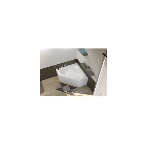 Baignoire d'angle ALTERNA CONCERTO 3 140 x 140 cm acrylique blanc