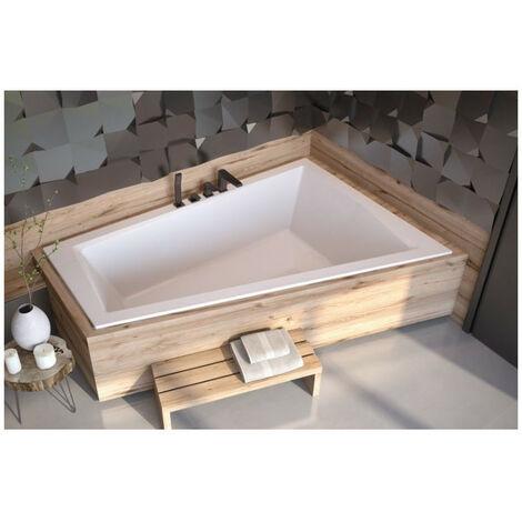 Baignoire d'angle Droit ULTIMA DUO 170 ou 180 cm ultra-slim - Dimensions: 170cm - Blanc