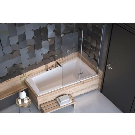 Baignoire d'angle DROITE ULTIMA 150 ou 160 cm slim - Dimensions: 160cm - Blanc