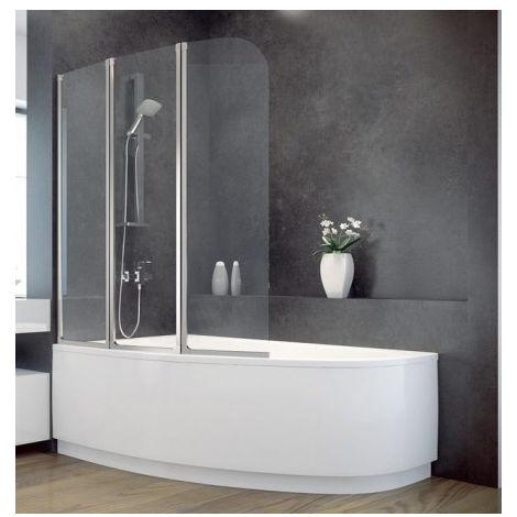 baignoire d 39 angle lordy 150 cm avec pare baignoire angle. Black Bedroom Furniture Sets. Home Design Ideas