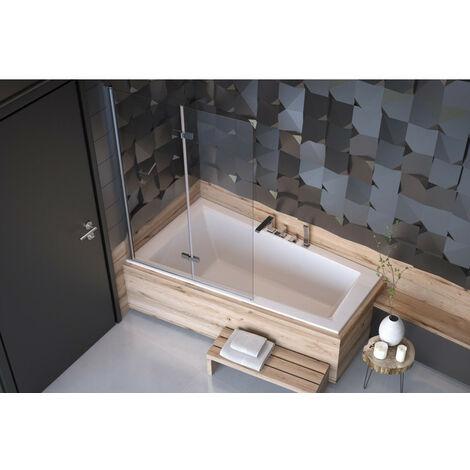Baignoire d'angle ULTIMA GAUCHE 150 ou 160 cm ultra-slim - Dimensions: 160cm - Noir