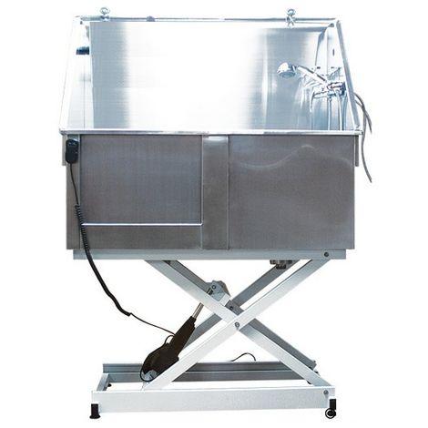Baignoire de toilettage métal inox sur châssis électrique Désignation : Baignoire MORIN 2070
