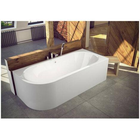Baignoire HILIO 150x75 cm DROITE avec tablier - Blanc