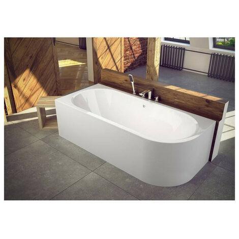 Baignoire HILIO 150x75 cm GAUCHE avec tablier - Noir
