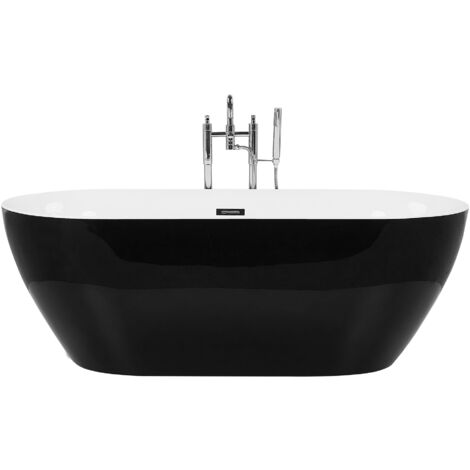 Baignoire ilot 160 cm en acrylique noir CARRERA