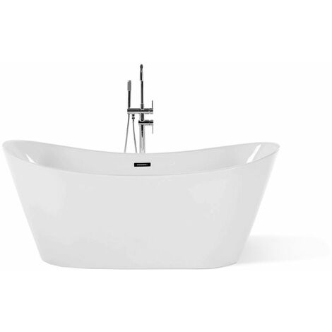Baignoire îlot 180 cm en acrylique blanc ANTIGUA