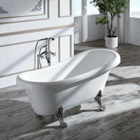 Baignoire ilot Ovale - Acrylique Blanc -150x72 cm - Prague