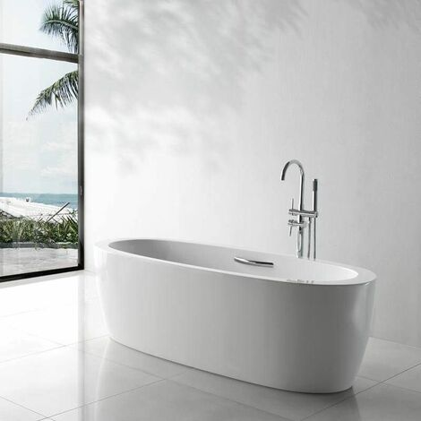 Baignoire ilot Ovale - Acrylique blanc -180x80 cm - Turin
