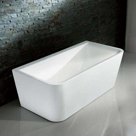 Baignoire ilot Rectangulaire - Acrylique Blanc -160x80 cm - Bilbao