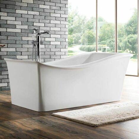 baignoire ilot rectangulaire acrylique blanc 170x80 cm. Black Bedroom Furniture Sets. Home Design Ideas